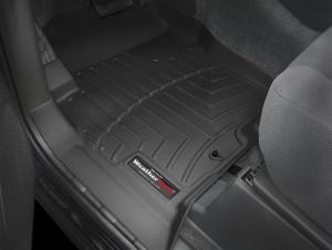 Nissan Navara 2005-2010 - Коврики резиновые с бортиком, передние, черные. (WeatherTech) фото, цена