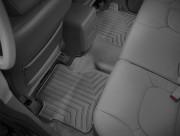 Nissan Navara 2005-2010 - Коврики резиновые с бортиком, задние, черные. (WeatherTech) фото, цена