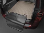 Nissan Murano 2014-2016 - Коврик резиновый в багажник, бежевый, с накидкой (WeatherTech) фото, цена