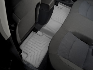 Nissan Qashqai 2007-2013 - Коврики резиновые с бортиком, задние, серые (WeatherTech) фото, цена