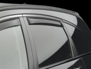 Honda CR-V 2007-2012 - Дефлекторы окон (ветровики) вставные, задние, темные. (WeatherTech) фото, цена