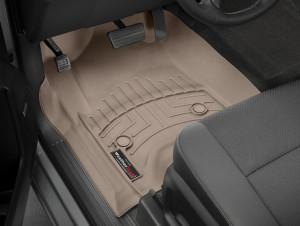 Cadillac Escalade 2015-2019 - Коврики резиновые с бортиком, передние, бежевые (WeatherTech) фото, цена