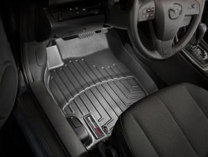 Mazda 6 2008-2012 - Коврики резиновые с бортиком, передние, черные (WeatherTech) фото, цена