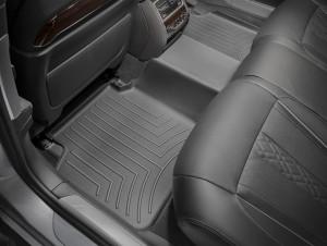 BMW 7 2015-2019 - Коврики резиновые, задние, черные. (WeatherTech) LONG фото, цена