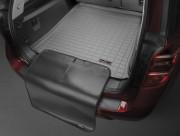 Lexus RX 2016-2019 - Коврик резиновый с бортиком в багажник (с накидкой), серый (WeatherTech) фото, цена