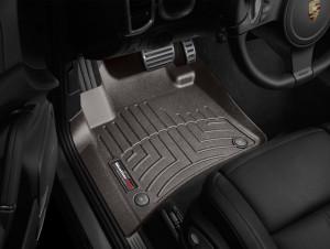 Volkswagen Touareg 2011-2018 - Коврики резиновые с бортиком, передние, какао (WeatherTech) фото, цена