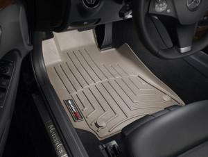 Mercedes-Benz E 2014-2018 - Коврики резиновые с бортиком, передние, бежевые. (WeatherTech) фото, цена