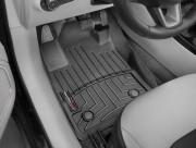 Jeep Compass 2017-2019 - Коврики резиновые с бортиком, передние, черные. (WeatherTech) фото, цена