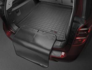 Volkswagen Touareg 2010-2019 - Коврик резиновый с бортиком в багажник (с накидкой), черный (WeatherTech) фото, цена