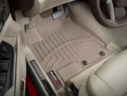 Cadillac SRX 2007-2018 - Коврики резиновые с бортиком, передние, бежевые. (WeatherTech) фото, цена