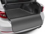 Volvo S90/V90 2016-2019 - Sedan Коврик резиновый в багажник, черный, с накидкой (WeatherTech) фото, цена