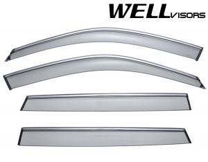 BMW X5 2007-2018 - Дефлектори вікон з хромованим металічним молдингом, к-т 4 шт, (Wellvisors) фото, цена
