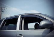 Porsche Cayenne 2003-2010 - Дефлектори вікон з метал чорним молдингом, к-т 4 шт (Wellvisors) фото, цена