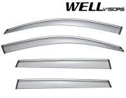Porsche Cayenne 2011-2018 - Дефлектори вікон з хромованим металічним молдингом, к-т 4 шт, (Wellvisors) фото, цена