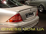 Mercedes-Benz S 1999-2006 - Лип спойлер на крышку багажника (под покраску) фото, цена