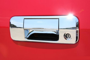 Toyota Tundra 2007-2013 - Хромированная накладка на ручку багажника без камеры заднего вида. фото, цена