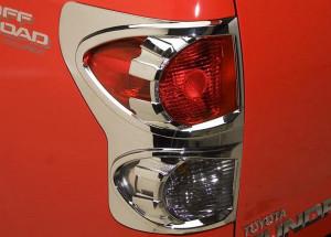 Toyota Tundra 2007-2013 - Хромированные накладки на задние фонари. фото, цена