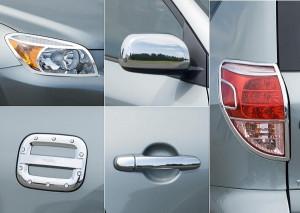 Toyota Rav 4 2006-2009 - Комплект хром-накладок. фото, цена