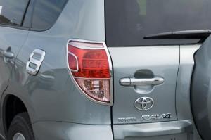 Toyota Rav 4 2006-2009 - Хромированные накладки на задние фонари. фото, цена