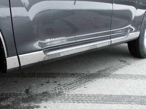Toyota Highlander 2008-2013 - Хромированные накладки на пороги,  к-т 6 шт. (SES) фото, цена