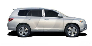 Toyota Highlander 2008-2013 - Хромированные накладки на стойки,  к-т 6 шт. (SES) фото, цена