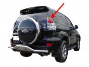 Toyota Land Cruiser Prado 2003-2008 - Хромированные накладки на задние фонари. фото, цена