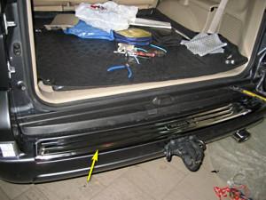 Toyota Land Cruiser Prado 2003-2008 - Хромированная накладка на задний бампер. (Wellstar) фото, цена