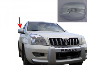 Toyota Land Cruiser Prado 2003-2008 - Хромированные накладки на зеркала с указателем поворотов. (Wellstar) фото, цена
