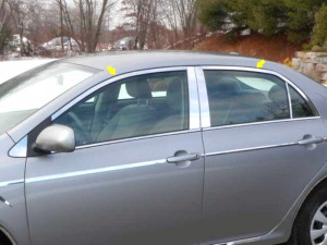 Toyota Corolla 2009-2010 - Хромированная окантовка дверей  к-т 4 шт. фото, цена