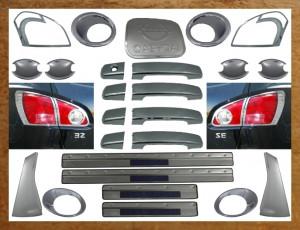 Nissan Qashqai 2007-2010 - Хромированный комплект, 29 элементов, пластик (Wellstar) фото, цена