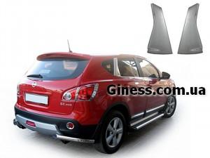 Nissan Qashqai 2007-2010 - Хромированные накладки на задние стойки  к-т 2 шт. фото, цена