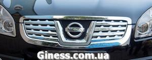 Nissan Qashqai 2007-2010 - Хромированные накладки на решетку радиатора. фото, цена