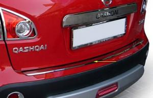 Nissan Qashqai 2007-2010 - Хромированная накладка на задний бампер. фото, цена