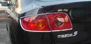 Mazda 3 2005-2009 - Хромированные накладки на задние фонари. (PUTCO) фото, цена