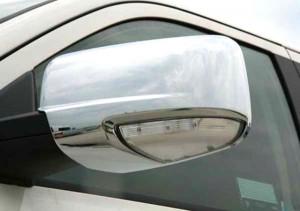 Dodge Ram 2009-2010 - Хромированные накладки на зеркала  (с повторителями поворотов / без повторителей). фото, цена