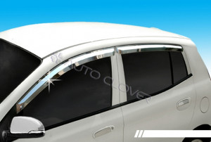 Kia Picanto 2009-2011 - Дефлекторы окон хромированные  к-т 4 шт. фото, цена
