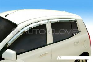 Kia Picanto 2005-2009 - Дефлекторы окон хромированные  к-т 4 шт. фото, цена