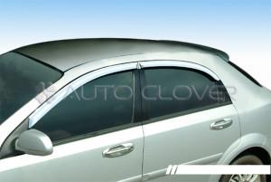 Chevrolet Lacetti 2003-2013 - (5DR) - Дефлекторы окон хромированные  к-т 4 шт.  фото, цена