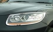 Hyundai Santa Fe 2006-2010 - Хромированные накладки на фары. фото, цена
