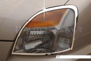 Hyundai Starex 2004-2007 - Хромированные накладки на фары. фото, цена