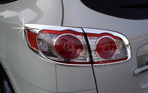 Hyundai Santa Fe 2009-2011 - Хромированные накладки на задние фонари  к-т 4 шт. фото, цена