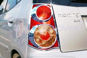 Kia Picanto 2008-2010 - Хромированные накладки на задние фонари. фото, цена
