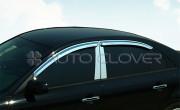 Hyundai Sonata 2004-2009 - Хромированные накладки на стойки  к-т 4 шт. (Пластик) фото, цена