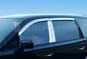 Hyundai Trajet 1999-2007 - Хромированные накладки на стойки  к-т 4 шт. (Пластик) фото, цена