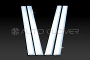 Kia Mohave  2008-2010 - Хромированные накладки на стойки  к-т 4 шт. (Пластик) фото, цена