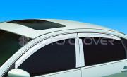 Nissan Teana 2005-2010 - (Renault Samsung  NSM5/ SM7) - Хромированные накладки на стойки  к-т 4 шт. (Пластик) фото, цена