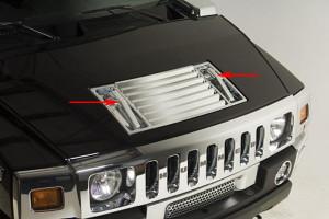 Hummer H2 2003-2009 - Хромированные накладки на ручки капота  к-т 2 шт. фото, цена