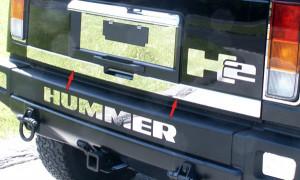 Hummer H2 2003-2007 - Хромированная накладка на кромку багажника. фото, цена