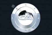 Kia Carens 2006-2010 - Хромированная накладка на лючок бензобака. фото, цена