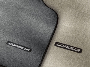 Toyota Corolla 2009-2010 - Коврики тканевые  к-т. (тёмно-серый/бежевый) фото, цена